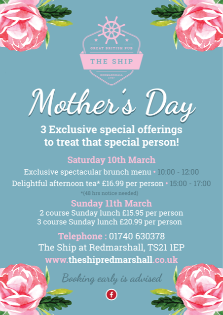 Celebrate Mothers Day at The Ship